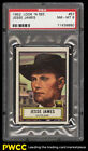 1952 Topps Look 'N See Jesse James #57 PSA 8 NM-MT (PWCC)