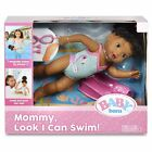 Authentic Brunette Baby Born Doll Mommy Look I Can Swim Pool Bathtub Toy for Kid