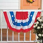 Nylon American Flag Patriotic Bunting July 4th Party Decoration Banner 39 x 22