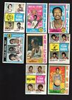 1974 - 75 Topps Basketball lot of 205 different cards with stars
