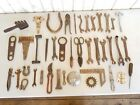 Lot of 40 Antique Vintage Iron Farm Tools ~ Mechanic Carpentry Tractor Wrenches