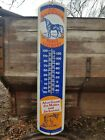 Vintage Dr Barkers Horse Liniment Advertising Barn Thermometer Cowboy Farm Decor