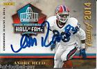 RARE ANDRE REED SIGNED PANINI 2014 FOOTBALL HALL OF FAME ENSHRINEMENT AUTO CARD