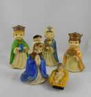 Mid Century Josef Originals Paper Mache Nativity Set 5 Pcs