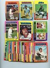 LOT OF 50 DIFFERENT 1975 TOPPS MINI BASEBALL CARDS EX+ NM CONDITION NICE