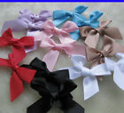 50pcs Satin Ribbon Flowers Bows Appliques Craft Wedding Decoration JAF075
