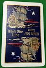 Playing Cards 1 Swap Card Old Vintage WSL WHITE STAR LINE Shipping Galleon Ship