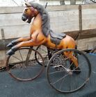 Iron Horse Tricycle Horse Kids Ride On Toy Vintage Cowboy