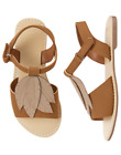 GYMBOREE GIRL BROWN FAUX SUEDE SANDALS SHOES TODDLER 6 7 8 NWT