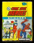 MARVEL COMIC BOOK HEROES CARD STICKERS BOX 1975 Topps 36 MINT Packs