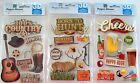 Paper House 3D Guy Things Stickers NIP