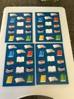 CUTE SCHOOL BOOKS COLORFUL ASSORTED STICKERS NEW GREAT BORDERS Clearance 4 Sheet