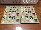 Dog  Cat Circle cute Stickers Great for borders 2 Sheets