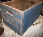 HANDSOME ANTIQUE PRIMITIVE BOX AWESOME OLD BLUE PAINT AAFA NR