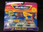 Micro Machines PRIVATE EYES COLLECTION Galoob 1989 car toy Set 11 NIP RARE