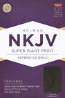 NKJV Super Giant Print Reference Bible Charcoal LeatherTouch BRAND NEW