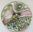 Incredible X LARGE Antique~ Vtg Abalone Shell BUTTON w/ Awesome Color! (S16)