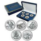 2012 Brilliantly Uncirculated National Parks Quarter Set in Collectors Gift Box
