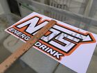 Nos Energy Drink Stickers Decal Sign Logo Bmx Skate Motocross Racing Red Bull