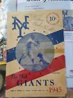 BABE RUTH JOE LOUIS BILLY CONN SIGNED NEW YORK GIANTS PROGRAM YANKEES BOXING PSA