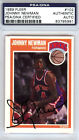 Johnny Newman Autographed Signed 1989 Fleer Rookie Card Knicks PSA DNA #83795991