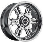 20x9 PVD Chrome Vision Rage 5x55 12 Rims Open Country A T II Tires