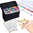 80 Colors Touch Five Dual Headed Artist Sketch Markers Pen Set For Animation US