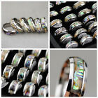 Lot 6pcs unique charm Abalone Shell stainless steel ring