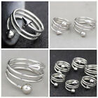 Lot 6pcs Unique design spiral rivets stainless steel ring
