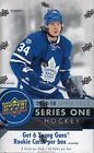 2017-18 UD Hockey Series 1 Factory Sealed Hobby Box With 6 Young Guns On Average