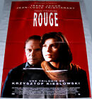 THREE COLORS  RED Kieslowski Irne Jacob Trintignant LARGE French POSTER