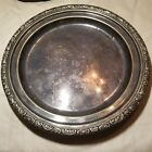 Antique Nickel Silver Plate Tray Meriden round chamberlain silver soldered 8.5in
