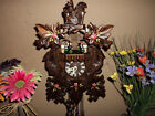 NICE GERMAN BLACK FOREST PAINTED MUSICAL CUCKOO CLOCK WITH SPINNING DANCERS