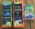 2 MATCHBOX 5 PACK 11 cars Total Nickelodeon Rugrats Spongebob Jimmy Neutron NIB