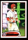 BRYCE HARPER $60+ MINT NATIONALS ROOKIE VARIATION YELLING SP 12 2012 TOPPS #661D