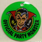 OFFICIAL PARTY MONSTER KEYCHAIN Bally 1991 Party Zone Pinball Promo Key Fob