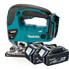 Makita 18v DJV180Z Cordless Jigsaw Li-Ion Body & 2x Makita BL1840 4.0Ah Battery