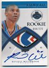 RUSSELL WESTBROOK 2008 09 UD EXQUISITE RC AUTOGRAPH 3 COLOR PATCH AUTO #094 225
