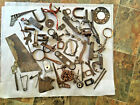 HUGE LOT Old FARM TOOLS  harness saws chains WELD SCULPTURE forged iron 24#