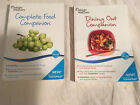 WEIGHT WATCHERS 2011 edition COMPLETE FOOD Points Plus DINING OUT 1 11 Lot of 2