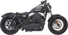 Bassani Black Radial Sweeper Exhaust System for 14 19 Harley Sportster 1200 883