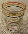 KITCHEN ANCHOR HOCKING RINGED MULTI-COLOR BANDED SHOT GLASSES - 3