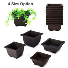 10Pcs Plastic Square Flower Pot Nursery Pots Garden Basin Bonsai Seeding Planter
