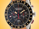 GRAHAM Silverstone GMT Men's Automatic Stainless Steel Chronograph Watch 2STDC