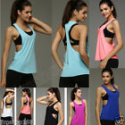 Fashion Women Workout Tank Top T shirt Sport Gym Clothes Fitness Yoga Vests