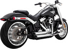 Vance  Hines Chrome Shortshots Staggered Exhaust for 2018 Harley Fat Boy FXBR