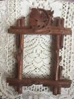 Vintage Old Wood decorated Frame for Picture Wall Hanging Carved Leaf Home Decor