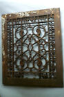 VTG Victorian Cast Iron Floor 11-5/8 x 9-3/4 Heat Grate Register Garden As Is