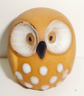 Vintage Hand Painted Collectible Ceramic Miniature Owl Figurine