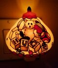 BOYDS BEARS HUGS Tiffany-Style NIGHTLIGHT - Glowscapes Collection in box EUC